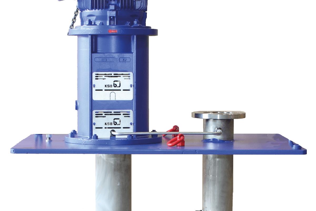 Nouvelles pompes verticales à ligne d'arbre KSB pour réservoir en milieu chimique