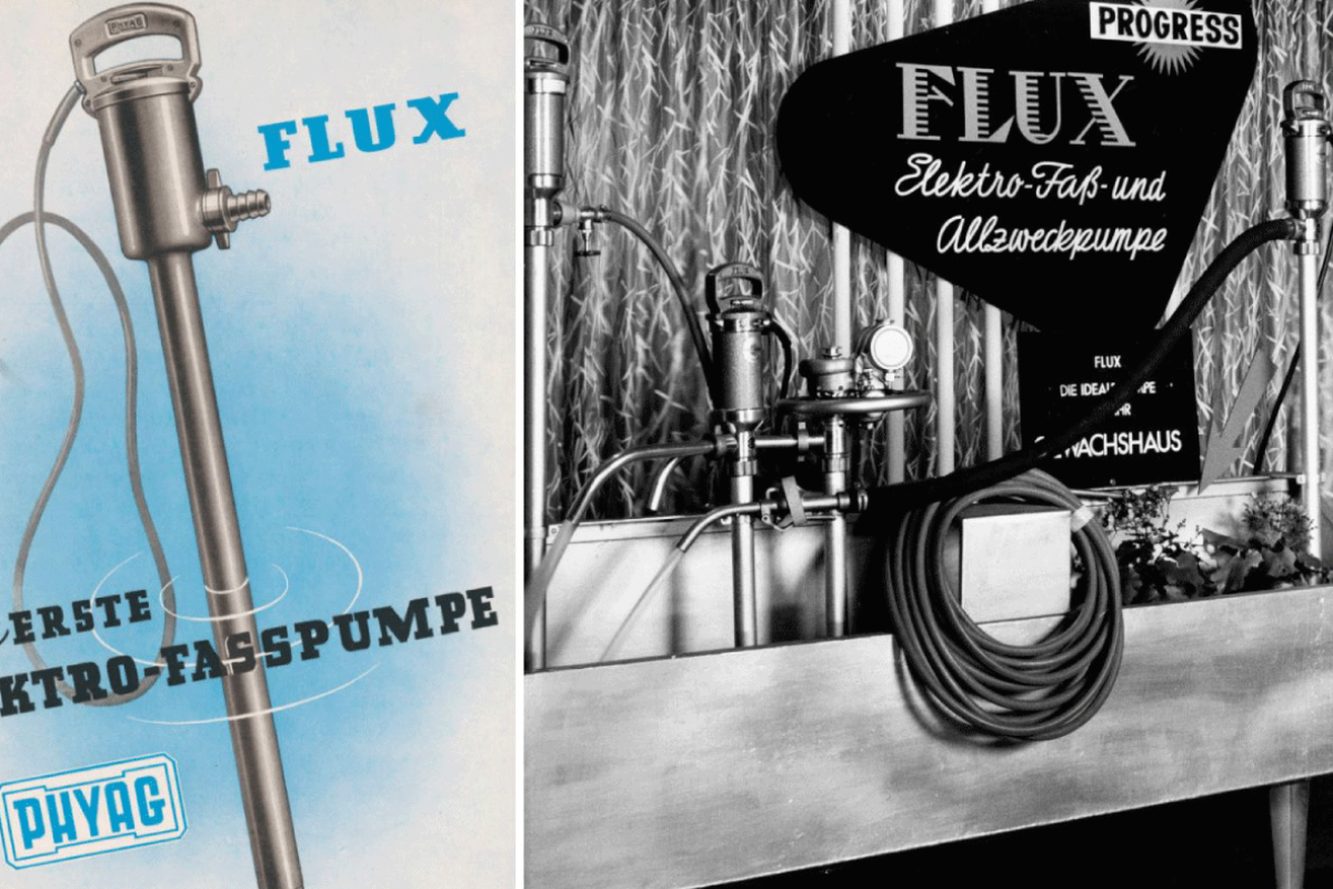 Il y a 70 ans : l'invention de la pompe vide-fût et la création de la marque FLUX